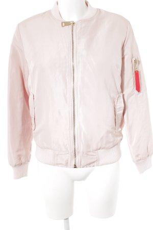 Blouson aviateur or rose style décontracté