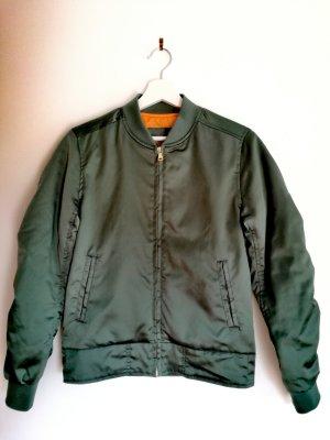 Bomberjacke Snipes / grün-orange