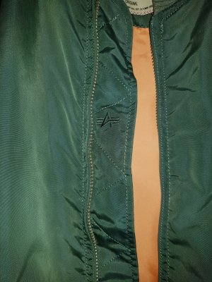Alpha Industries Bomber Jacket orange-grass green
