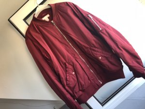 H&M Giacca bomber rosso scuro