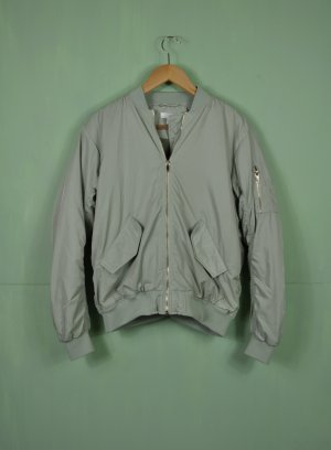 H&M Bomber Jacket pale green-lime-green