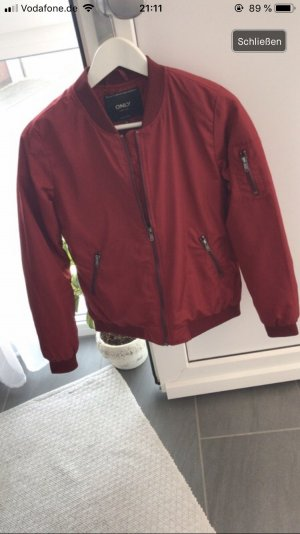 Only Giacca bomber rosso scuro