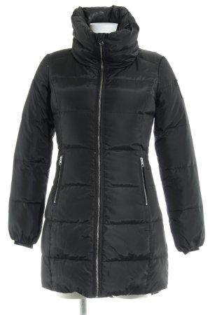 Bomboogie Manteau en duvet noir motif de courtepointe style décontracté