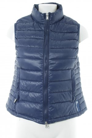 Bomboogie Gilet en duvet bleu foncé motif de courtepointe style décontracté
