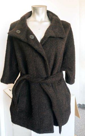 Bomboogie Chaqueta de lana marrón oscuro Lana