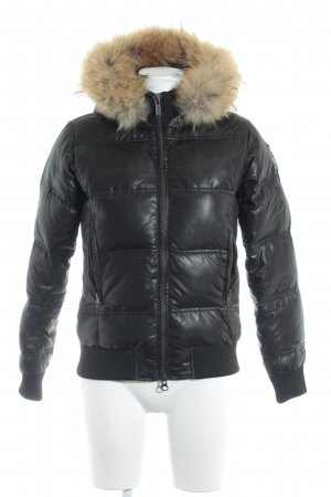 Bomboogie Quilted Jacket black casual look