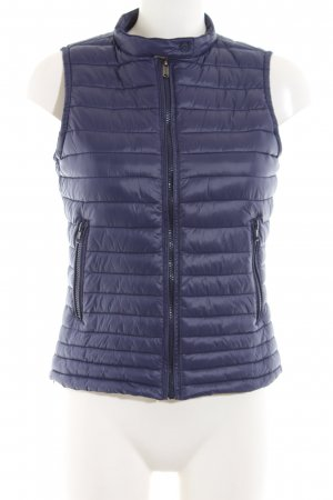 Bomboogie Gewatteerd vest blauw quilten patroon casual uitstraling