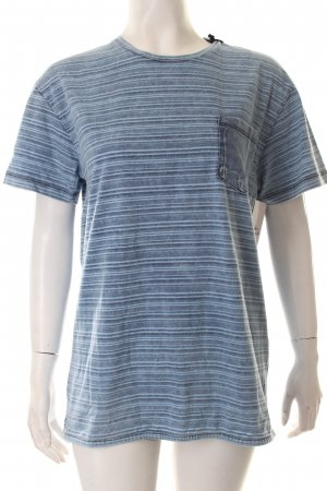 Bomboogie T-Shirt kornblumenblau-hellblau Streifenmuster Casual-Look