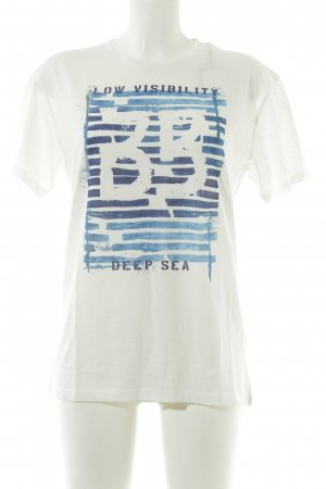Bomboogie T-Shirt platzierter Druck Casual-Look