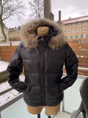 Bomboogie Winterjacke schwarz Echtfell Kragen