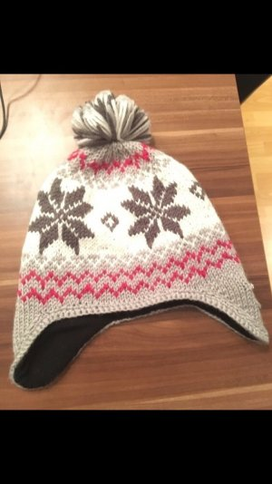 Barts Knitted Hat grey-pink