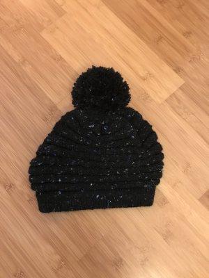 Knitted Hat black-dark blue