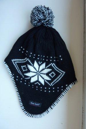 Chapeau en tricot noir-blanc