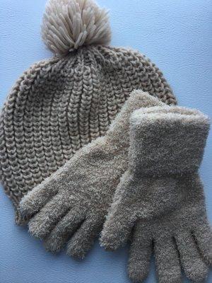 Sombrero de punto crema-beige claro