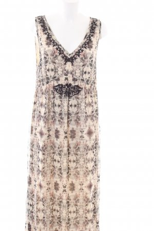 Bon'a Parte Maxi Dress cream-brown allover print casual look