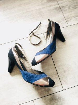 Bon´a Parte Peeptoes Gr. 42 - blau/schwarz/metallic