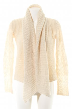Bon'a Parte Knitted Cardigan cream cable stitch casual look