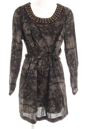 Bonaparte A-Linien Kleid schwarz-dunkelgrün Boho-Look