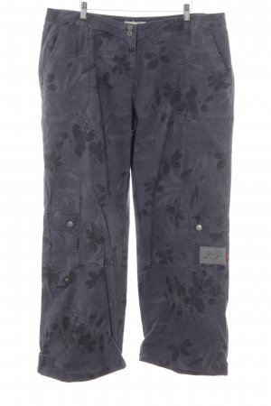 Bonaparte Capris dark grey-grey floral pattern casual look
