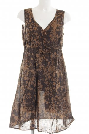 Bonaparte Empire Dress brown flower pattern classic style