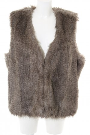 Bonaparte Fur vest brown casual look