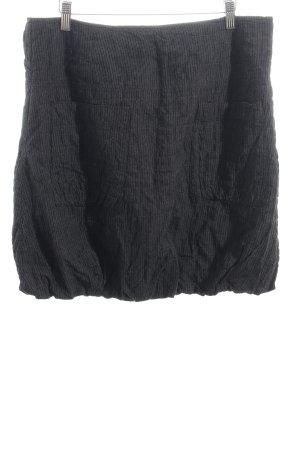 Bonaparte Minirock grau-schwarz Streifenmuster Casual-Look