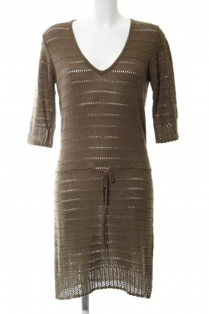 Bonaparte Knitted Dress bronze-colored striped pattern casual look