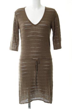 Bonaparte Strickkleid bronzefarben Streifenmuster Casual-Look