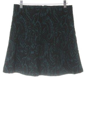 Bonaparte Tellerrock petrol-schwarz abstraktes Muster Casual-Look