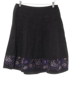 Bonaparte Tellerrock schwarz-dunkelviolett Blumenmuster Vintage-Look