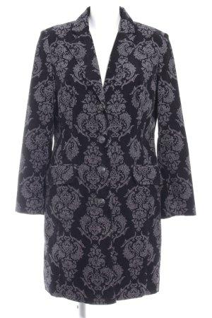 Bonaparte Manteau mi-saison noir-gris motif embelli élégant
