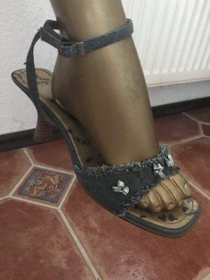 Bonciolini Sandalen aus Jeans Stoff, Gr 39