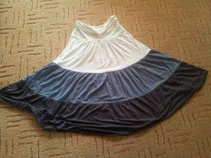 Bondeau Top Gr. S M Stretch weiß blau anthrazit Streifen