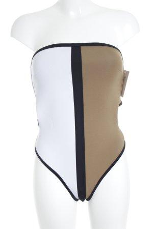 Bondi Born Badeanzug abstraktes Muster 60ies-Stil