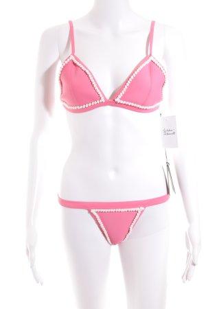 Bondi Born Bikini pink-weiß sportlicher Stil