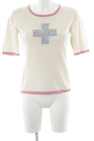 Bongenie Grieder Camisa tejida estampado temático look casual