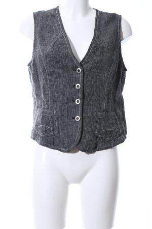 Bonita Gilet de costume gris clair Motif de tissage style décontracté