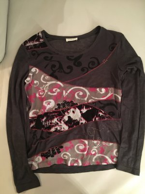BONITA Ausbrennershirt, Shirt, langarm, schönes Muster, Gr. S, wie NEU