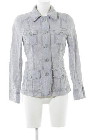 Bonita Blouson grigio chiaro-bianco stile casual