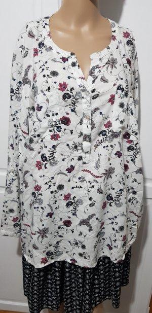 bonita bluse Oberteil weiß mit floralen muster