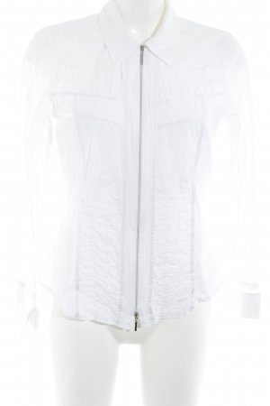 Bonita Blusenjacke wollweiß schlichter Stil