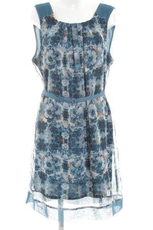 Bonita Blusenkleid blau Blumenmuster Casual-Look