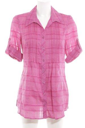 Bonita Blusenkleid pink Karomuster Casual-Look