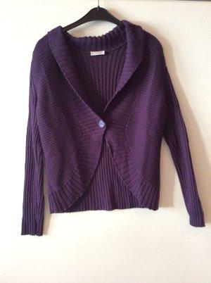 Bonita Boléro en tricot violet foncé