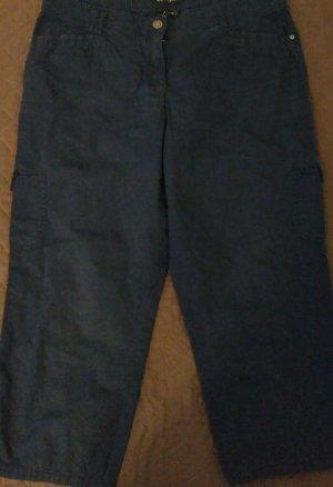 Bonita Pantalon 7/8 bleu foncé coton