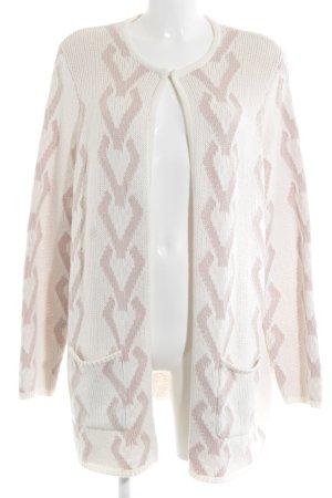 Bonita Cardigan wolwit-stoffig roze abstract patroon casual uitstraling