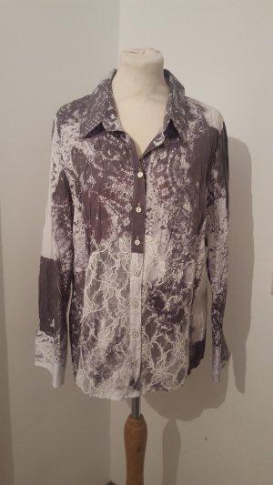 Bonita Damen Bluse Langarmhemd mit Spitze Nieten Größe 44