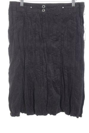 Bonita Faltenrock schwarzbraun-taupe schlichter Stil