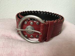 Bonita Gürtel rot mit Metallelementen