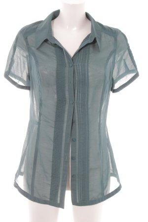 Bonita Hemd-Bluse waldgrün Transparenz-Optik